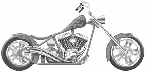 Harley-Davidson Crusader Custom Chopper