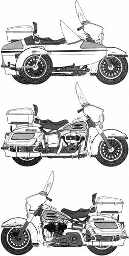 Harley-Davidson FLH 80 Classic with Side Car
