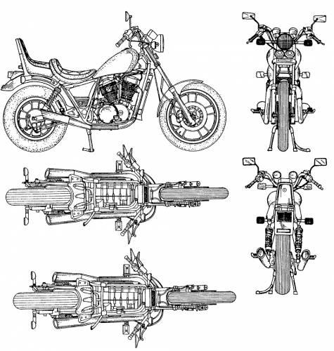 Blueprints motorcycles honda honda 01 for Blueprint paper size