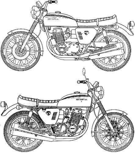 blueprints  u0026gt  motorcycles  u0026gt  honda  u0026gt  honda dream cb750 four