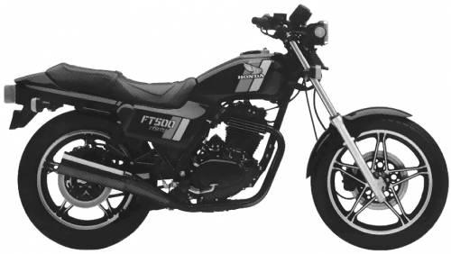 blueprints motorcycles honda honda ft500 ascot 1983. Black Bedroom Furniture Sets. Home Design Ideas