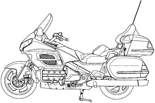 blueprints  u0026gt  motorcycles  u0026gt  honda  u0026gt  honda goldwing gl1800