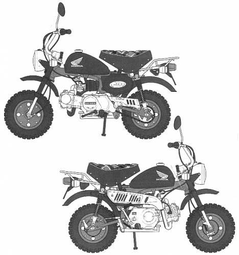 Blueprints Motorcycles Honda Monkey