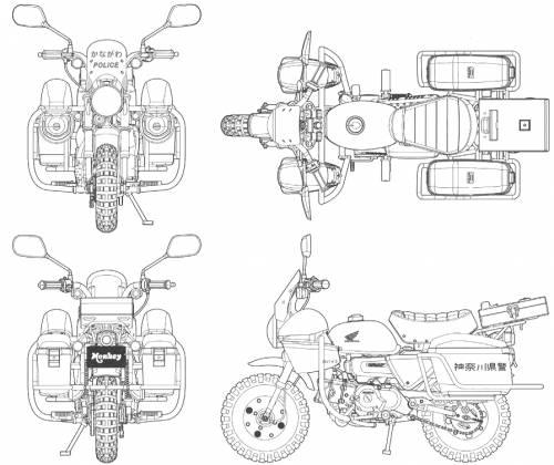 Blueprints motorcycles honda honda monkey honda monkey malvernweather Gallery