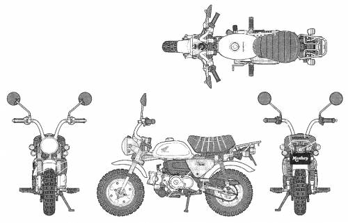 blueprints  u0026gt  motorcycles  u0026gt  honda  u0026gt  honda monkey dx