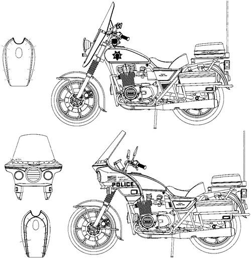 Blueprints > Motorcycles > Kawasaki > Kawasaki KZ1000 Police