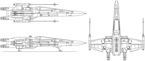 Star Wars T 70 X Wing Blueprint