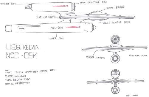 Kelvin Type Ship (Star trek Movie 2009)