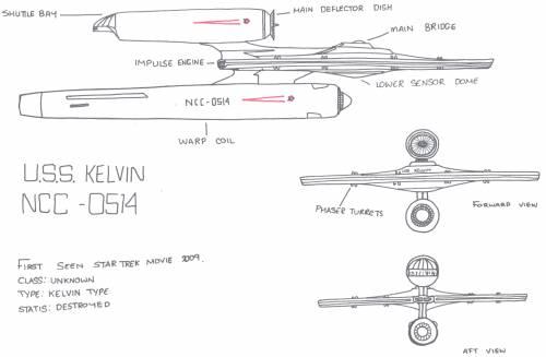 Kelvin Type Ship (Star trek Movie 2009)