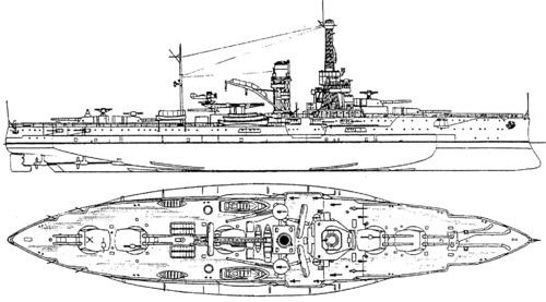 Blueprints ships battleships us uss bb 30 florida for Florida blueprint