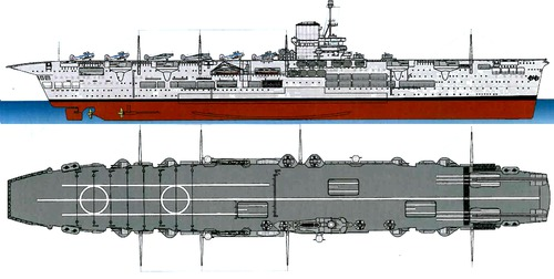 The blueprints blueprints ships carriers uk hms ark hms ark royal 1941 aircraft carrier malvernweather Choice Image