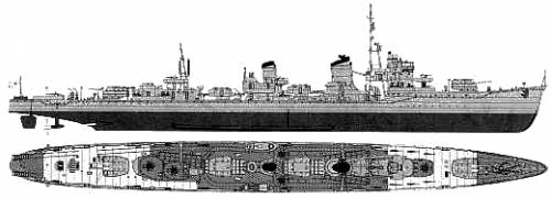 IJN Yukikaze (Destroyer) (1945)