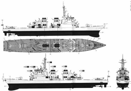 JMSDF DDG-173 Kongo (Destroer)