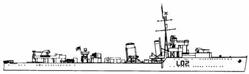 HMS Wolsey (Destroyer) (1942)
