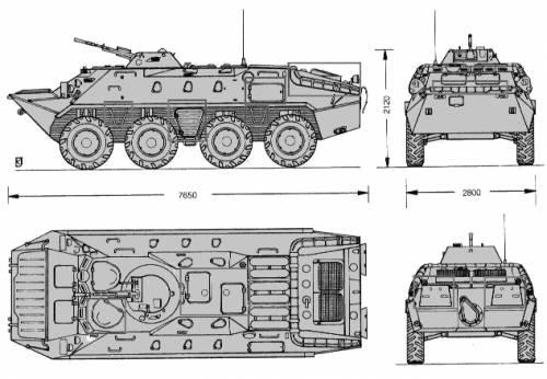汽车结构外形三视图