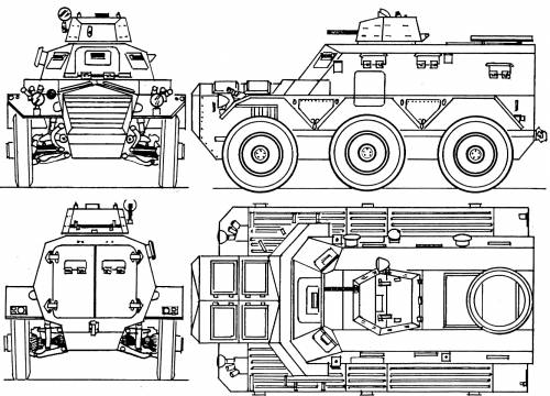 FV603 Saracen blueprint