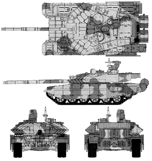 The-Blueprints.com - Blueprints > Tanks > Tanks T > T-90MS