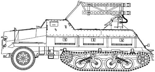 Sd.Kfz. 4-1 8cm Panzerwerfer 42 auf Maultier