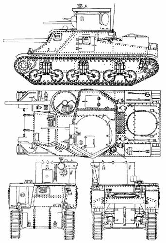 Blueprints Tanks Ww2 Tanks Us M3 Cdl