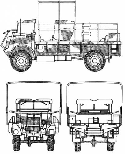 bedford ql gun tractor  1943