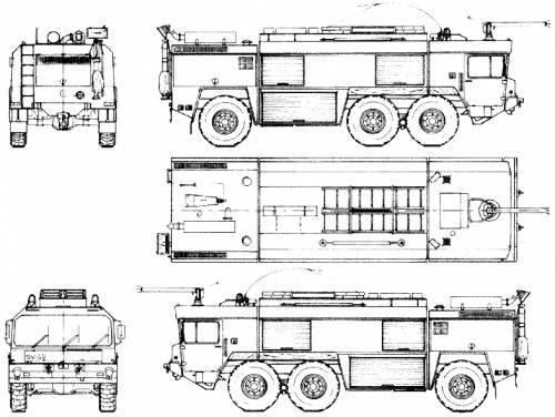 Blueprints trucks faun faun fl 6x4 for Florida blueprint