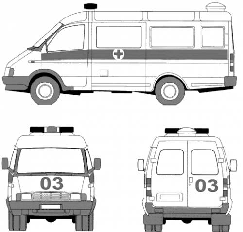 GAZ Sobol Ambulance