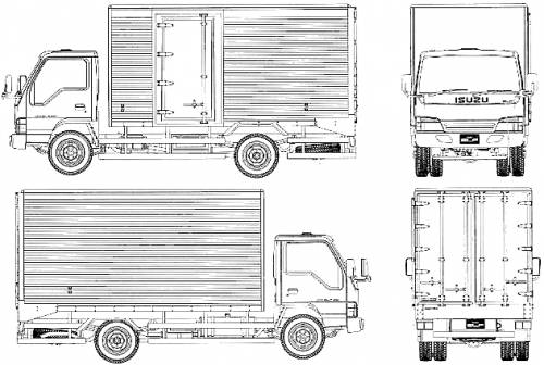 blueprints  u0026gt  trucks  u0026gt  isuzu  u0026gt  isuzu elf