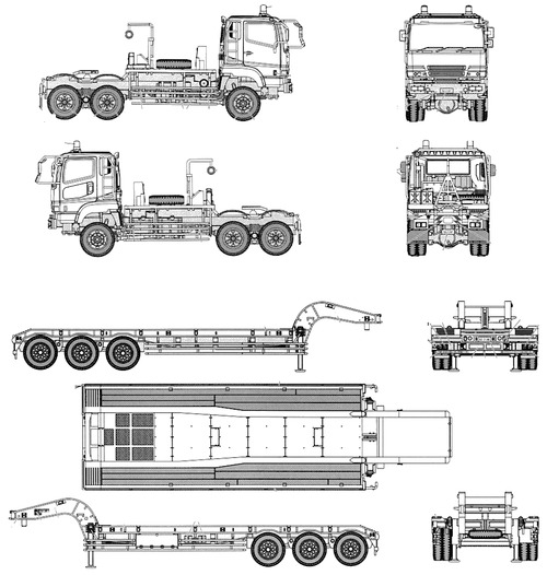 blueprints  u0026gt  trucks  u0026gt  isuzu  u0026gt  isuzu type 73 jgsdf semi trailer