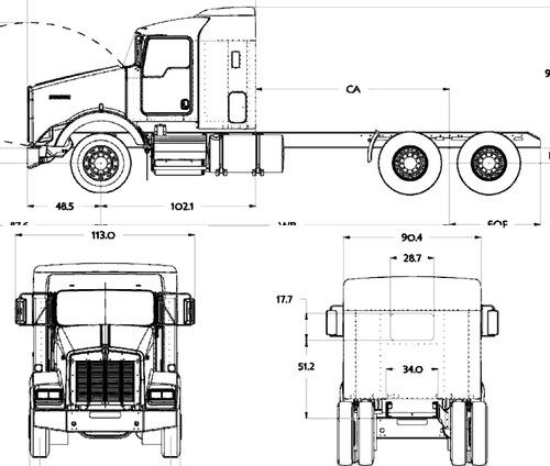 blueprints  u0026gt  trucks  u0026gt  kenworth  u0026gt  kenworth t800 aerocab  2016