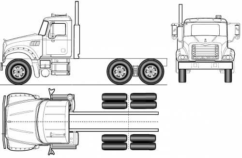blueprints  u0026gt  trucks  u0026gt  mack  u0026gt  mack granite axle forward