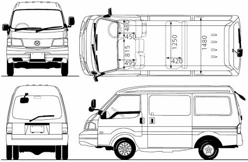 mazda bongo electrical wiring diagram