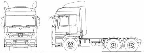 blueprints trucks mercedes benz mercedes benz acrors. Black Bedroom Furniture Sets. Home Design Ideas