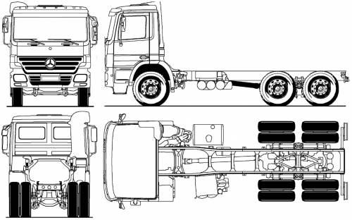 blueprints  u0026gt  trucks  u0026gt  mercedes