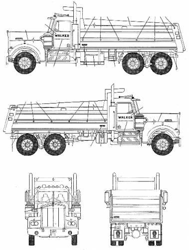 blueprints trucks peterbilt peterbilt dump truck. Black Bedroom Furniture Sets. Home Design Ideas