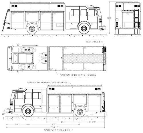 the blueprints trucks trucks sutphen heavy rescue ladder fire truck. Black Bedroom Furniture Sets. Home Design Ideas