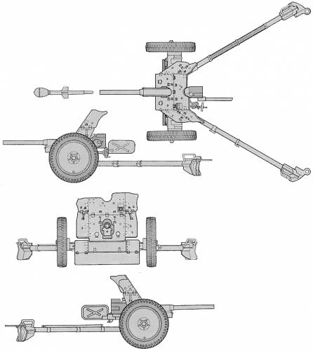 German 50 Mm Anti Tank Gun: Blueprints > Weapons > Artillery And