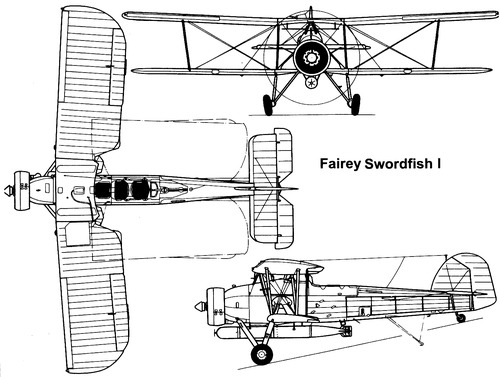 Fairey Swordfish RAF WWII Black /& White Printed From The Original 1940/'s in 2018