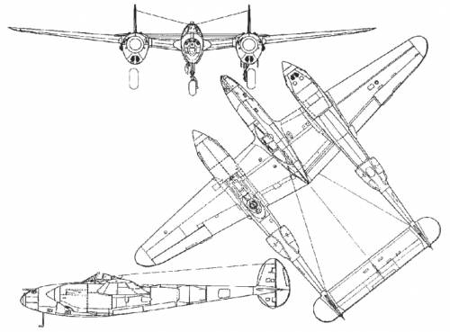 Blueprints > WW2 Airplanes > Lockheed > Lockheed P-38 Lightning