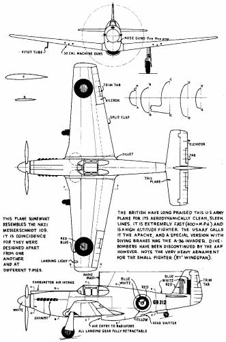 P 51 Mustang 3 View Drawings http://www.the-blueprints.com/index.php?blueprints/ww2planes/ww2usa/21126/view/