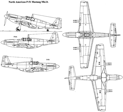 The blueprints blueprints ww2 airplanes north american north american p 51 mustang mkia malvernweather Gallery
