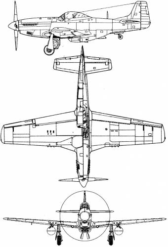 Blueprints ww2 airplanes north american north american p 51d north american p 51d mustang malvernweather Images