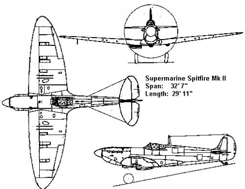 Supermarine Spitfire Plans Drawings http://www.the-blueprints.com/blueprints/ww2planes/ww2-supermarine/1569/view/supermarine_spitfire_mk_ii/