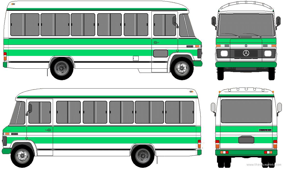 blueprints buses mercedes benz mercedes benz o309d. Black Bedroom Furniture Sets. Home Design Ideas