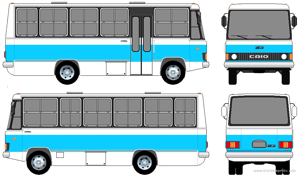 The-Blueprints.com - Blueprints > Buses > Various Buses > Caio Bus ...