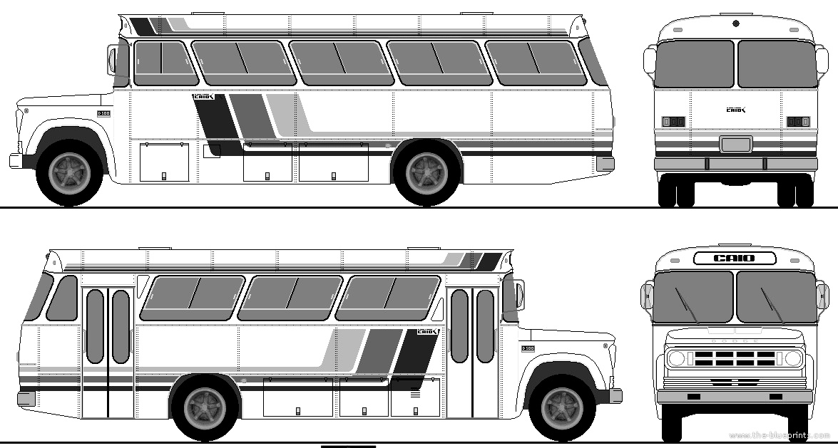 The-Blueprints.com - Blueprints > Buses > Various Buses > Dodge ...