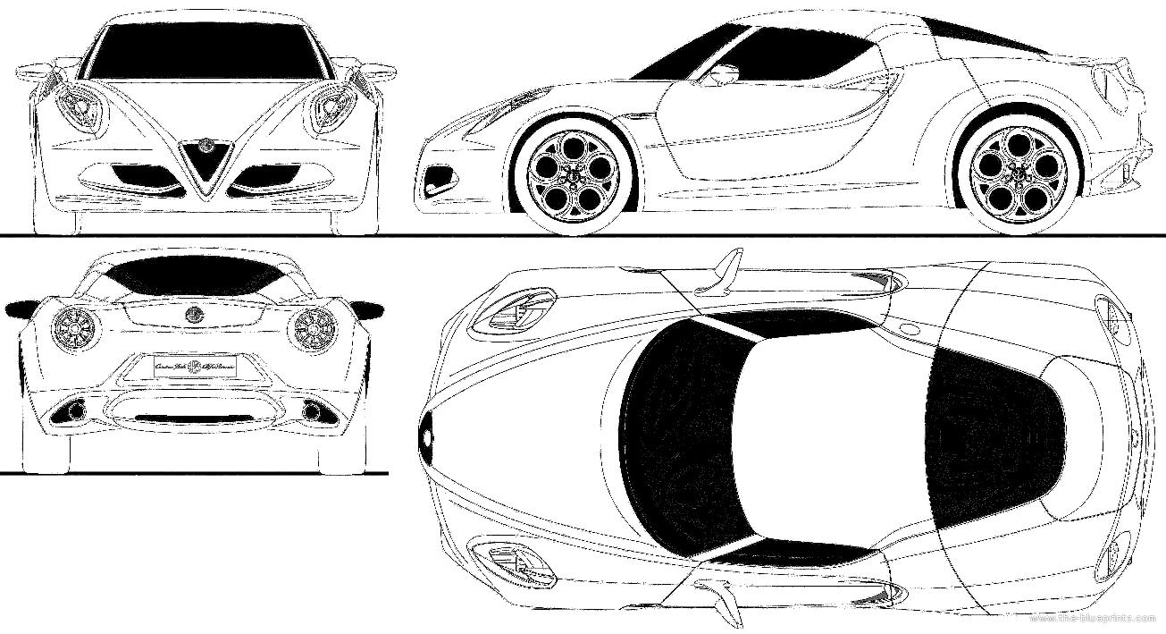 blueprints  u0026gt  cars  u0026gt  alfa romeo  u0026gt  alfa romeo 4c  2012