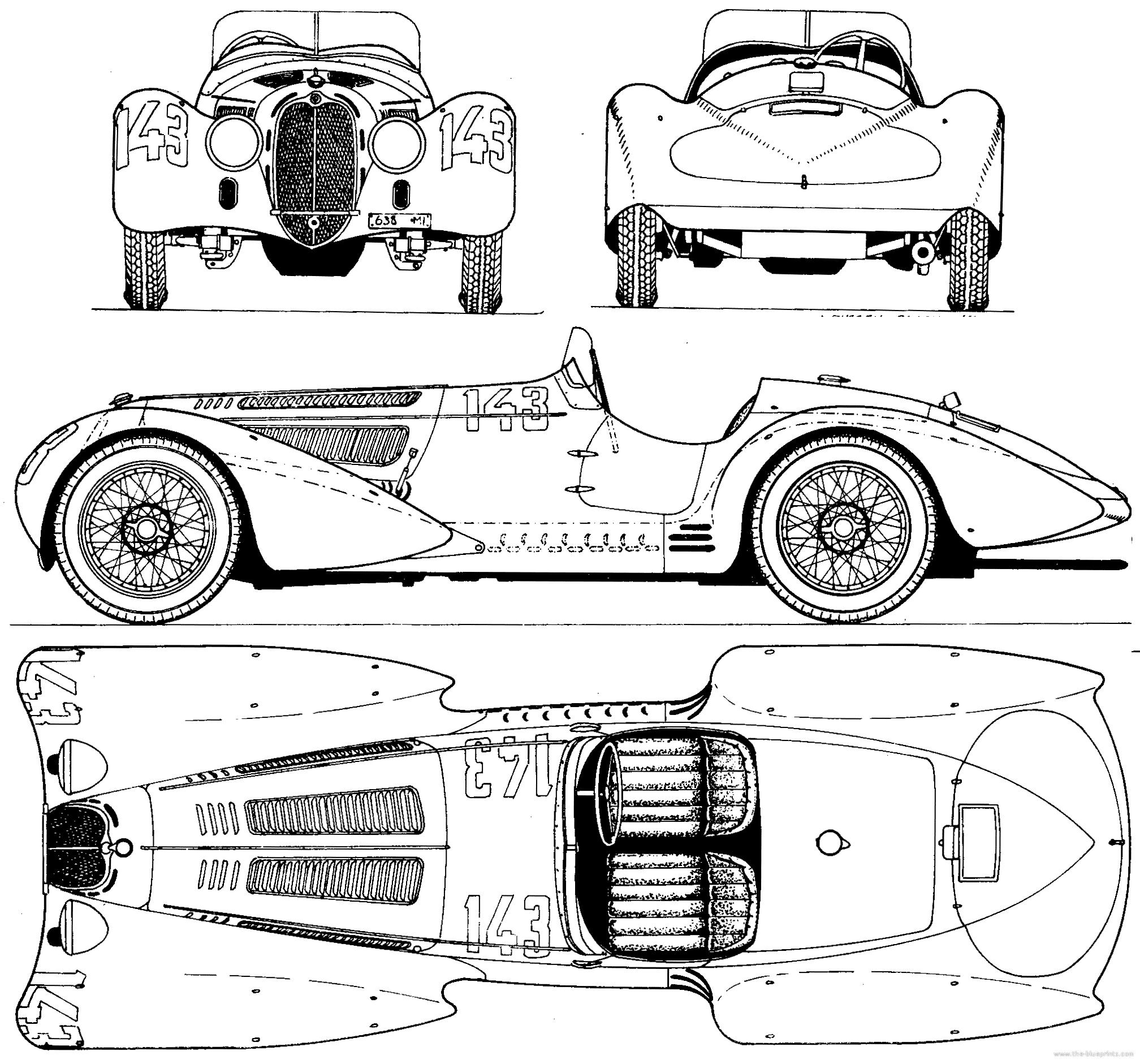 blueprints  u0026gt  cars  u0026gt  alfa romeo  u0026gt  alfa romeo 8c 2900 b  1938