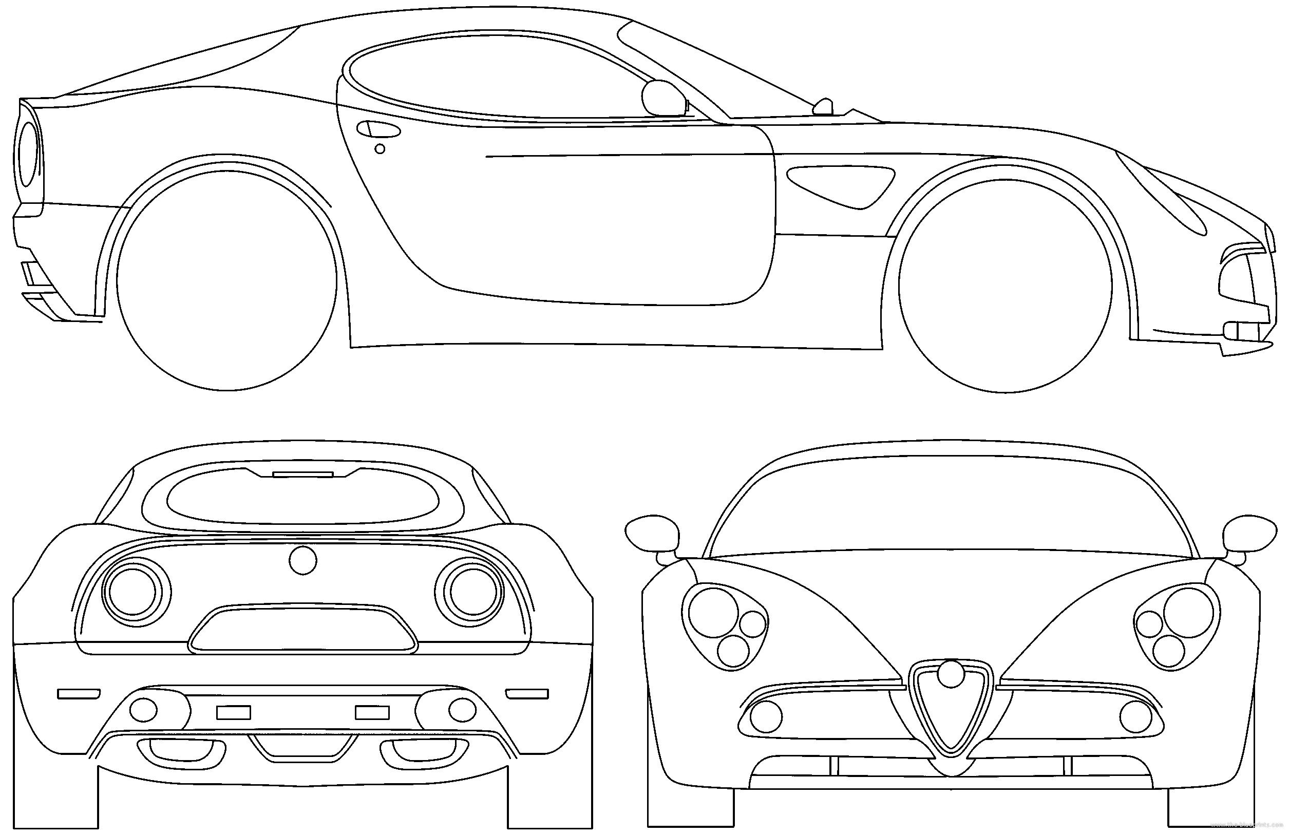 Blueprints > Cars > Alfa Romeo > Alfa Romeo 8C Competitzione (2008)