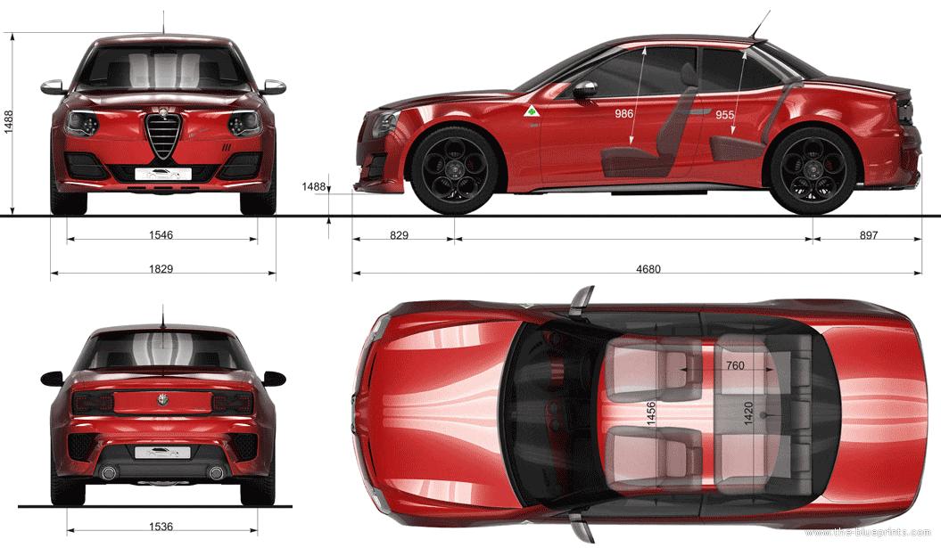blueprints cars alfa romeo alfa romeo giulia gt concept dragos prodan. Black Bedroom Furniture Sets. Home Design Ideas