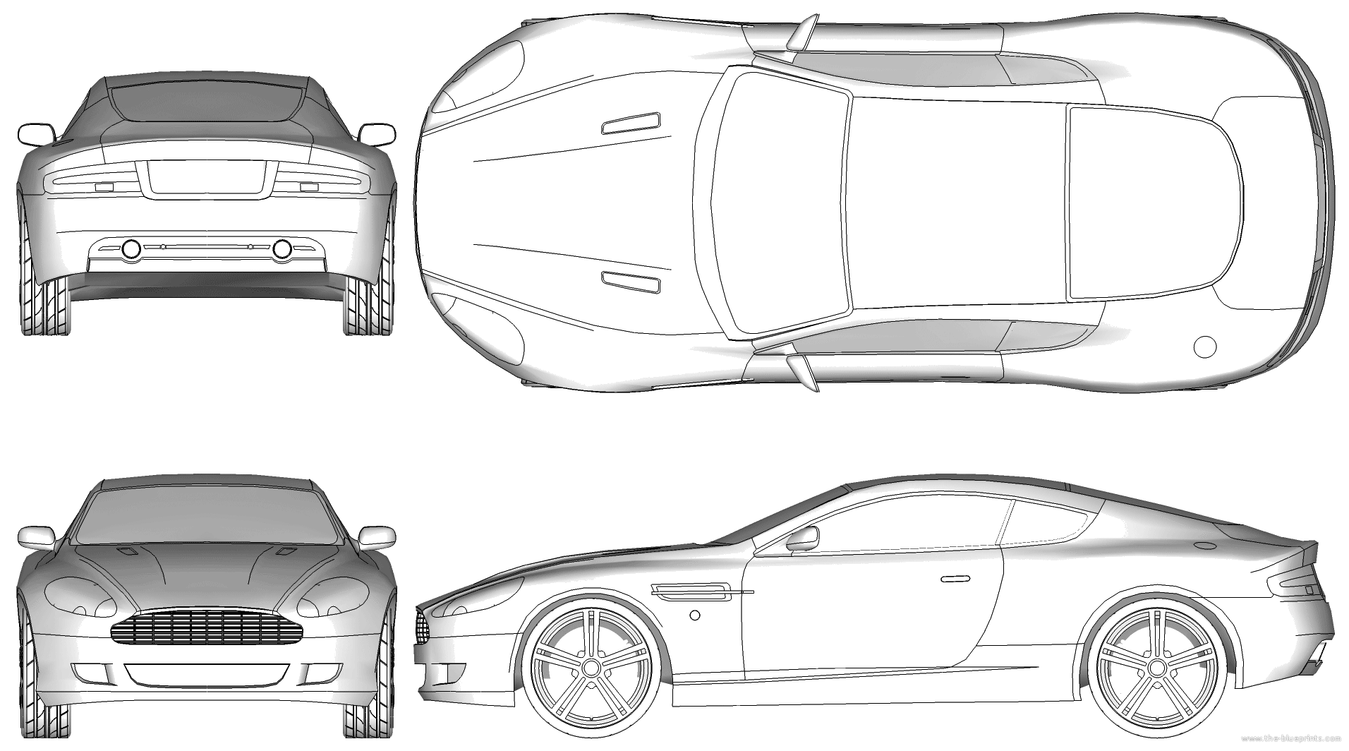 Blueprints > Cars > Aston Martin > Aston Martin DB9